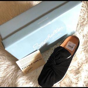 Seychelles Jubilant Black Suede Knot Slip On Shoe